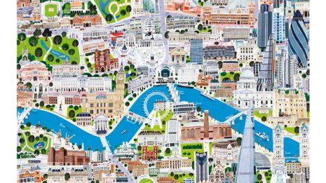 London A1 print - London map