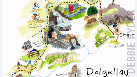 Illustrated walk for Sunday Telegraph - Dolgellau