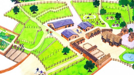 The National Trust  - Wimpole Farm layout